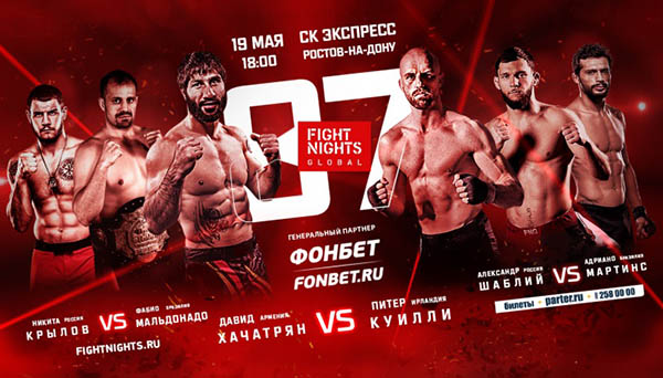 Результаты и видео FIGHT NIGHTS GLOBAL 87